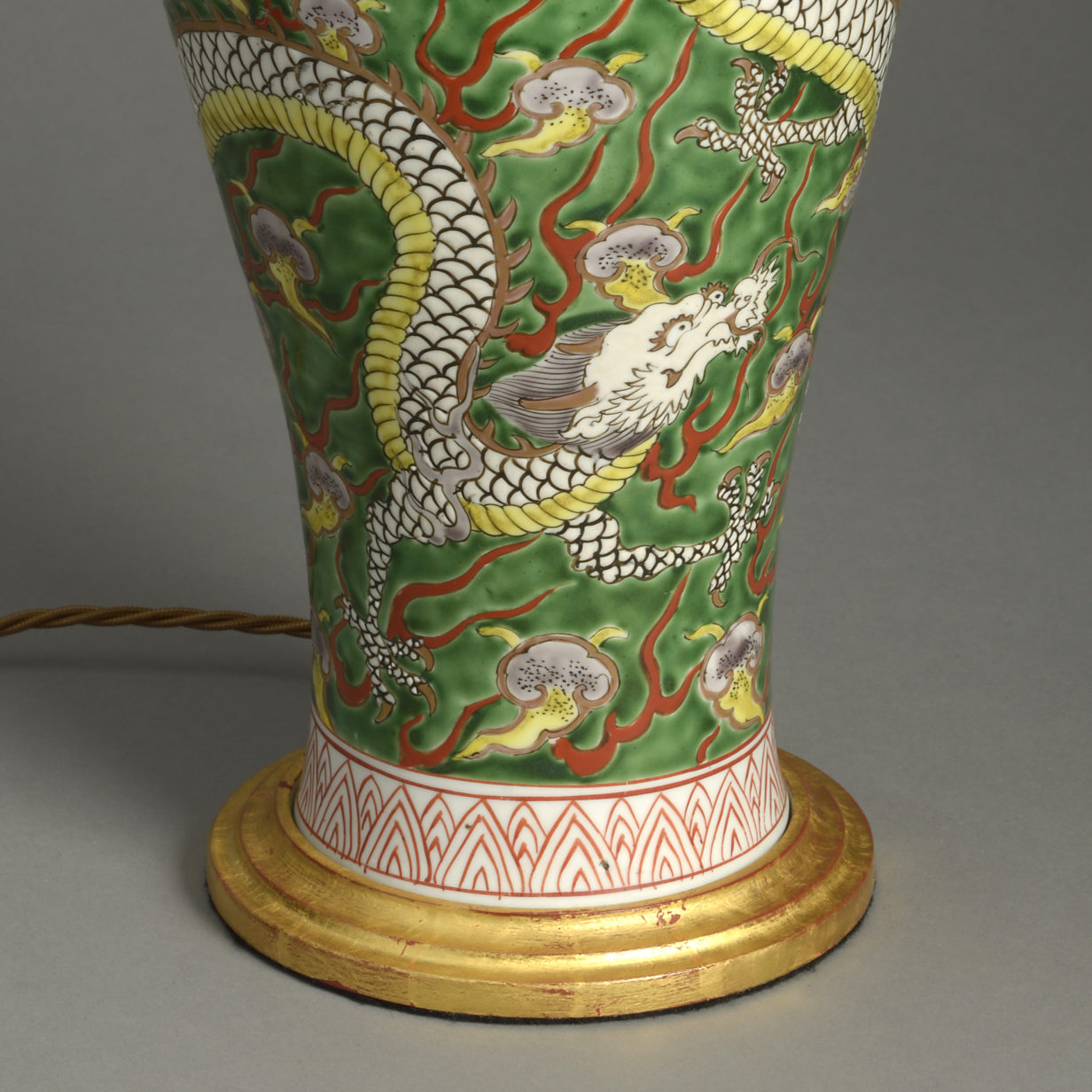 Green Dragon Vase Lamp