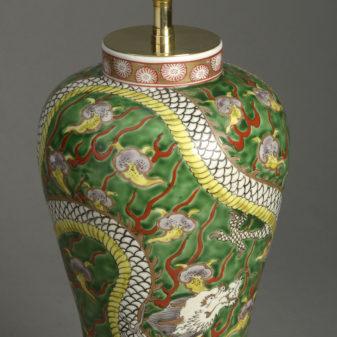 Green Dragon Vase Lamp