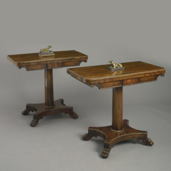 Pair of Rosewood Card Tables