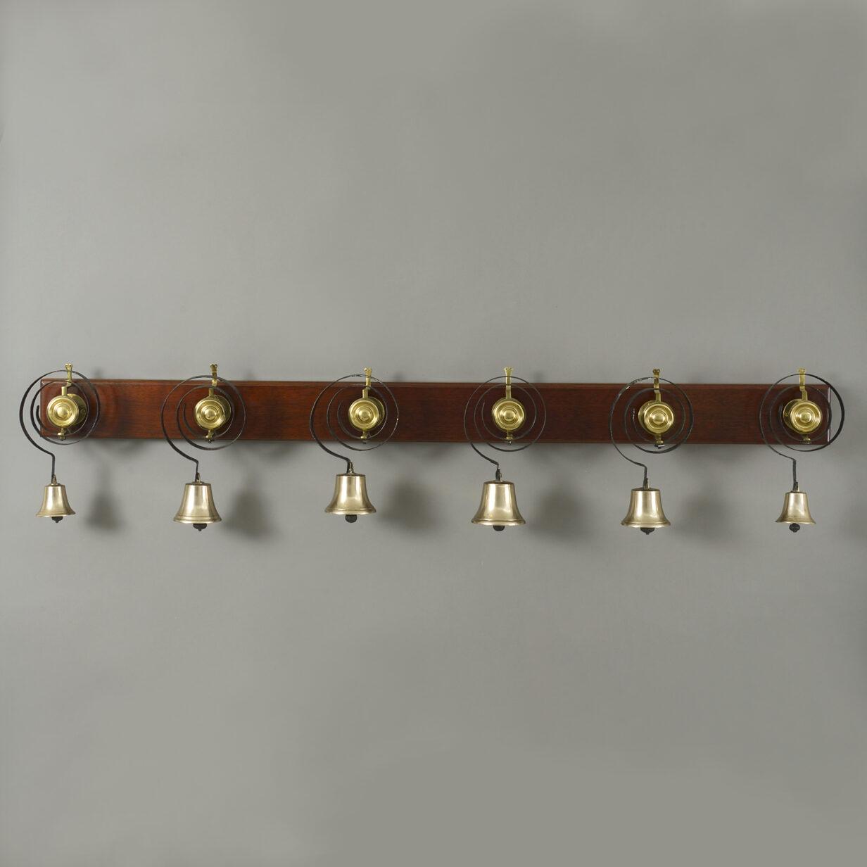 Six Brass Servants Bells