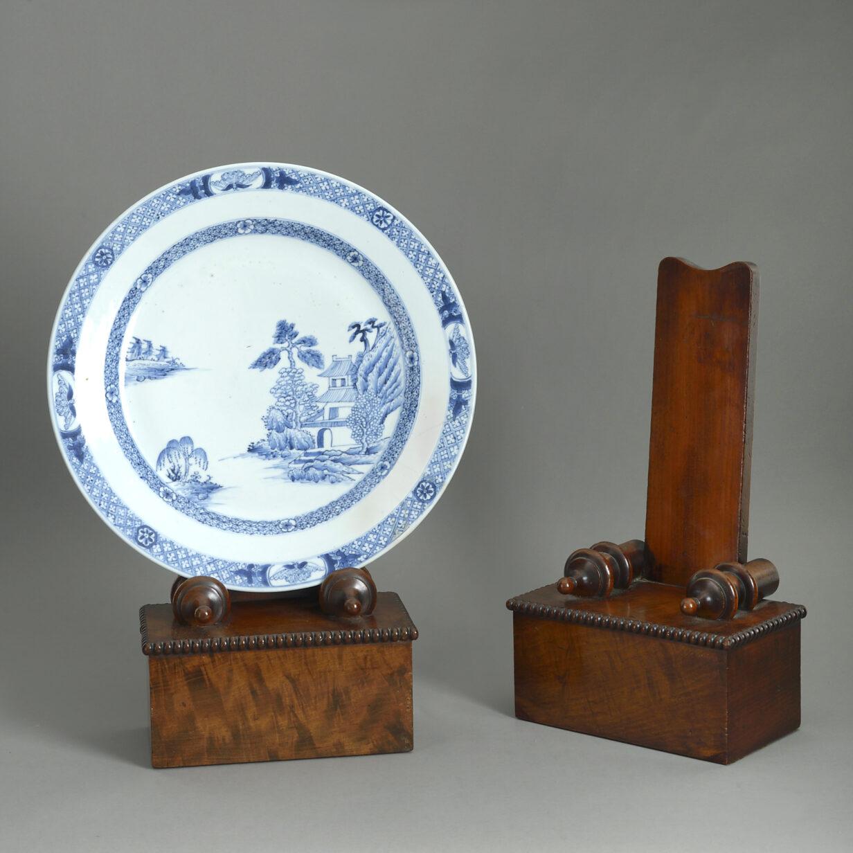 Pair of Regency Plate Stands