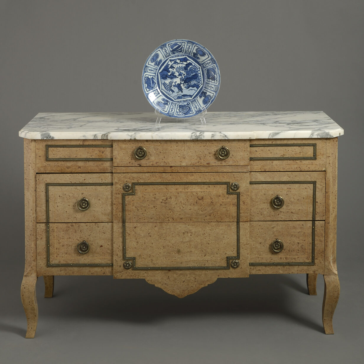 Burr Elm Commode