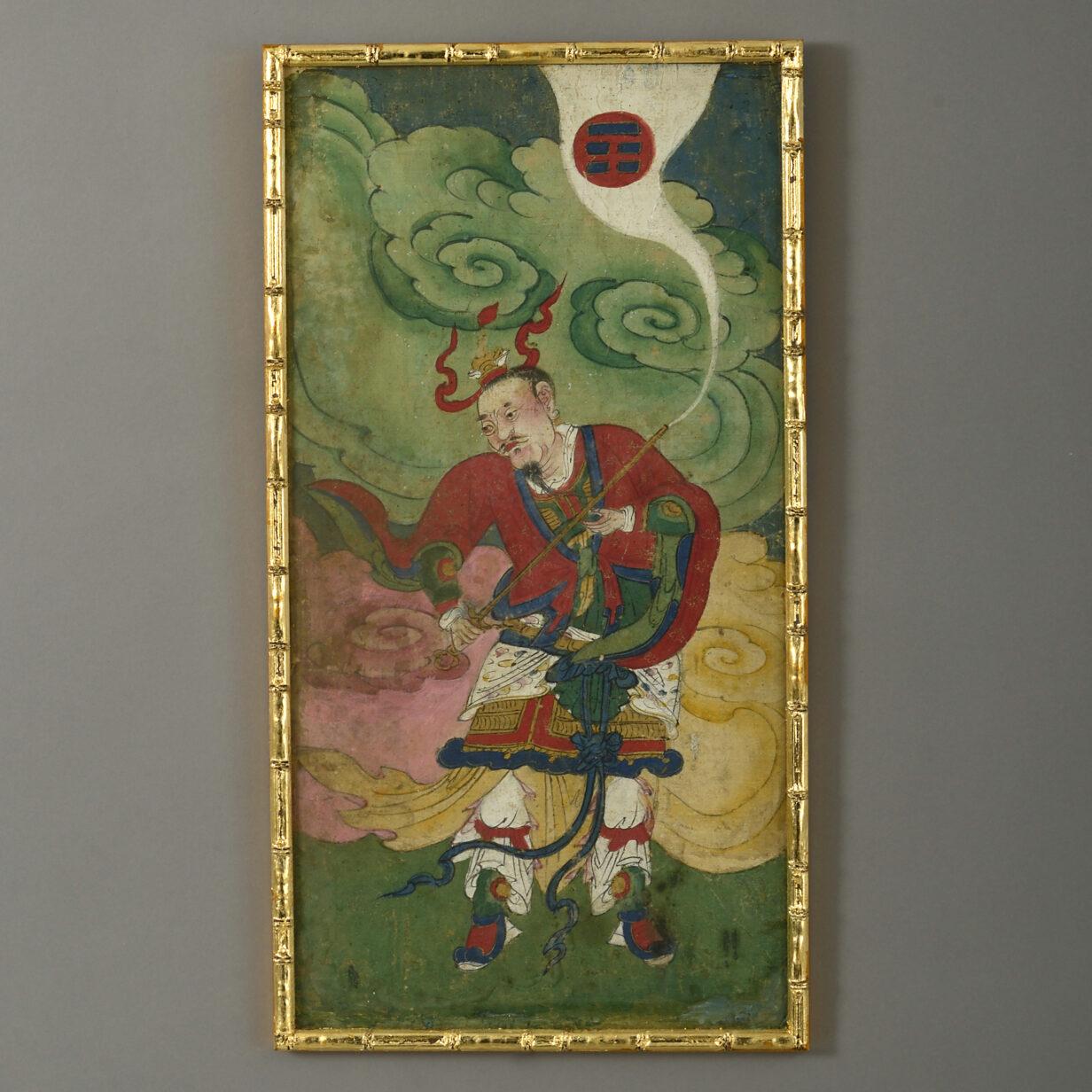 Three Chinese Watercolour Deities