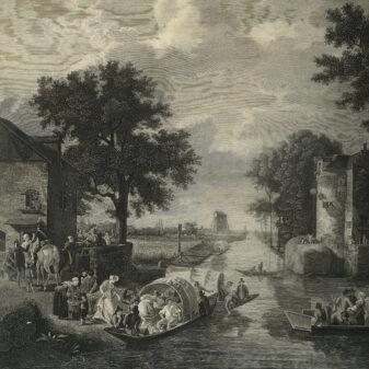 Pair of Empire Engravings of Paris