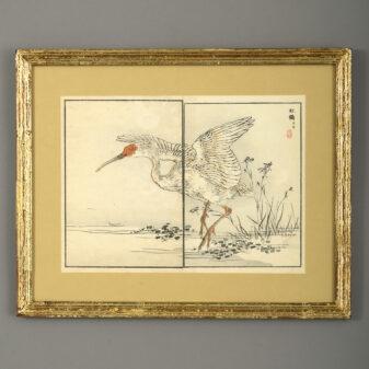 Nine Meiji Woodblock Prints