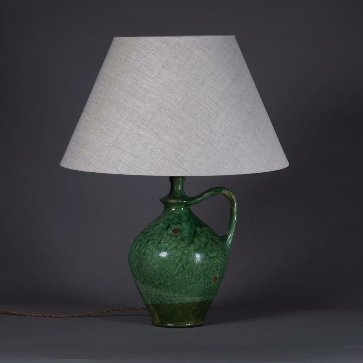 Green Amphora Vase Lamp