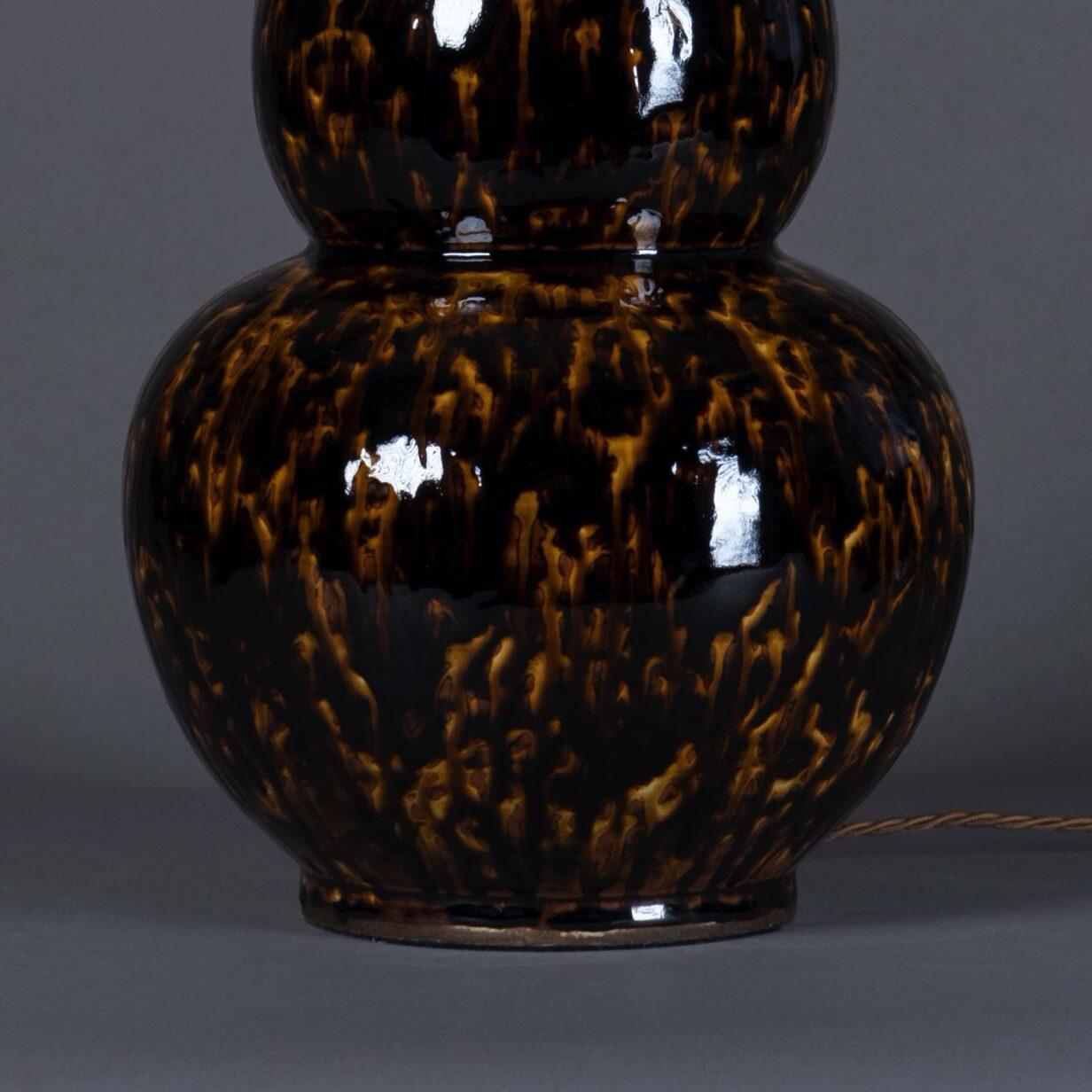 Pair of Tortoiseshell Gourd Lamps