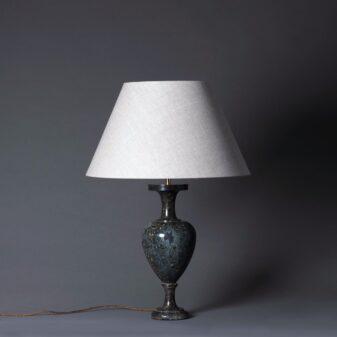 Turned Marble Vase Lamp