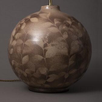 Bulbous Floral Lamp
