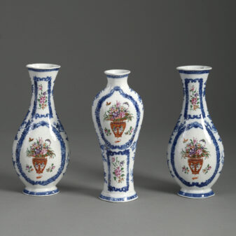 Garniture of Three Qianlong Vases