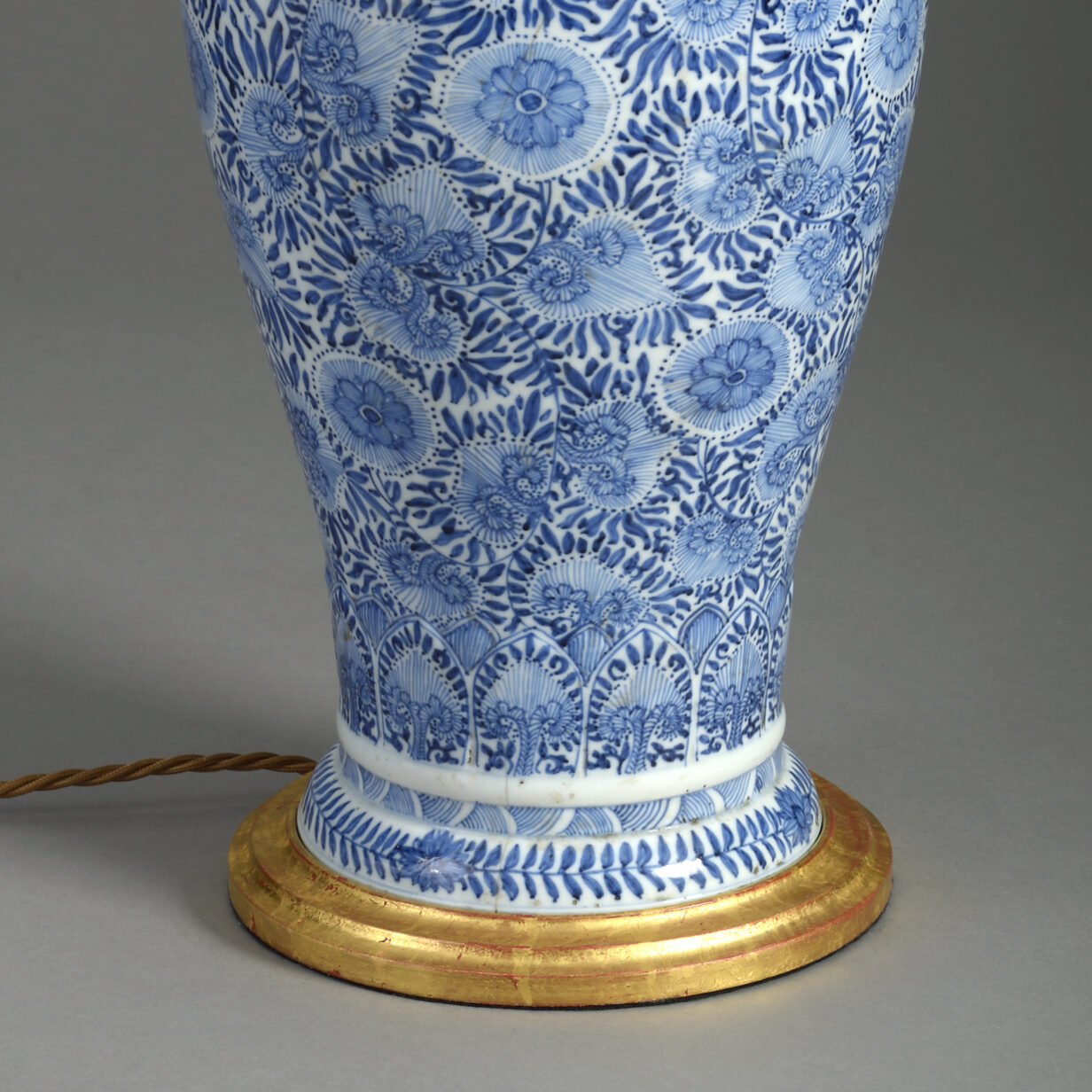 Blue and White Kangxi Vase Lamp