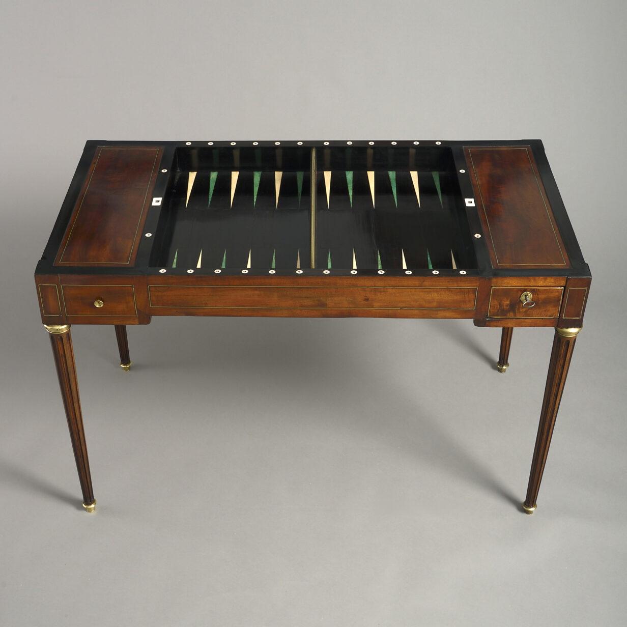 Louis XVI Period Tric Trac Games Table