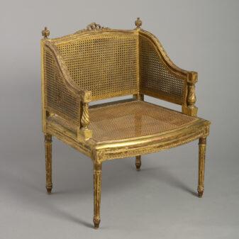 Louis XVI Giltwood Bergere