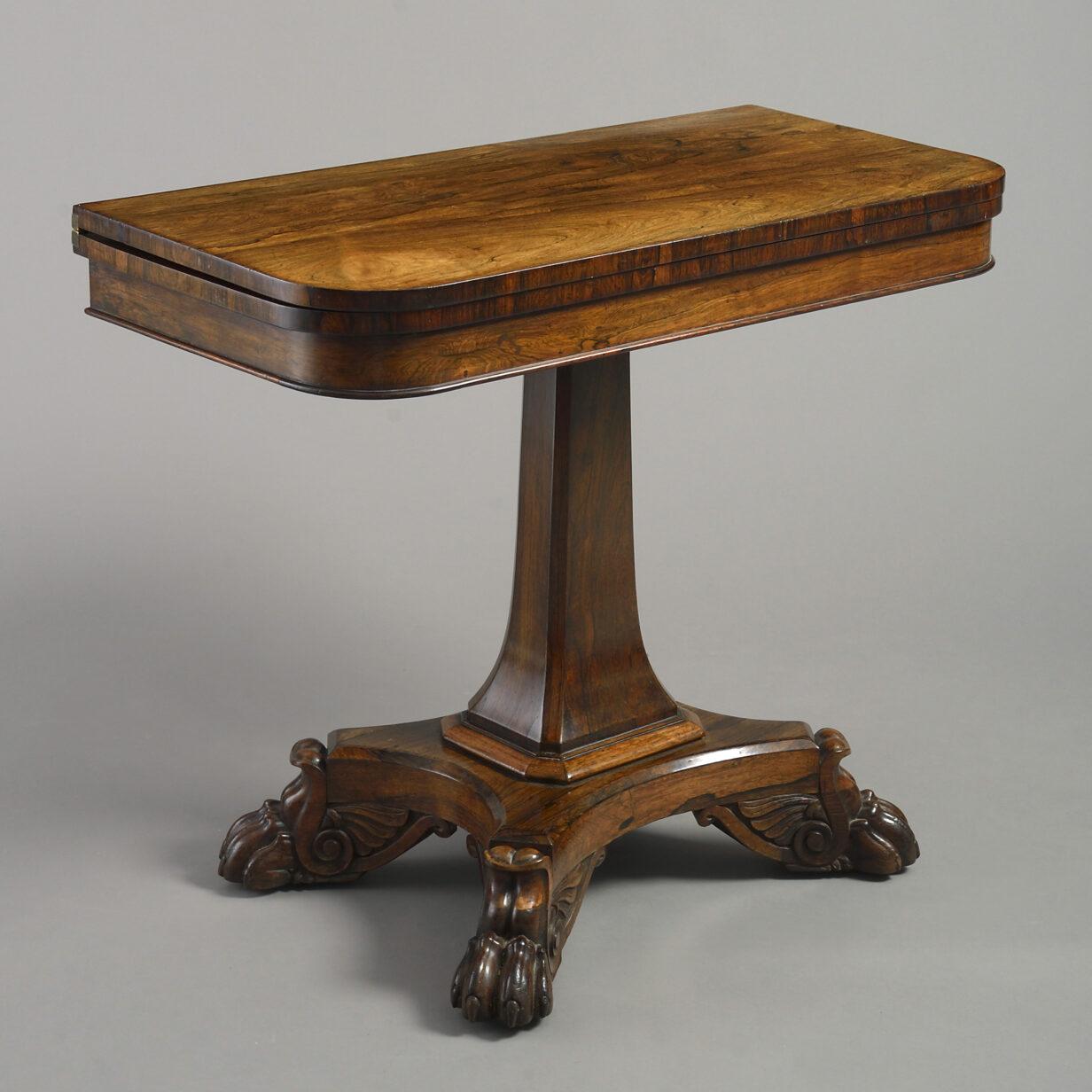 Regency Rosewood Tea Table