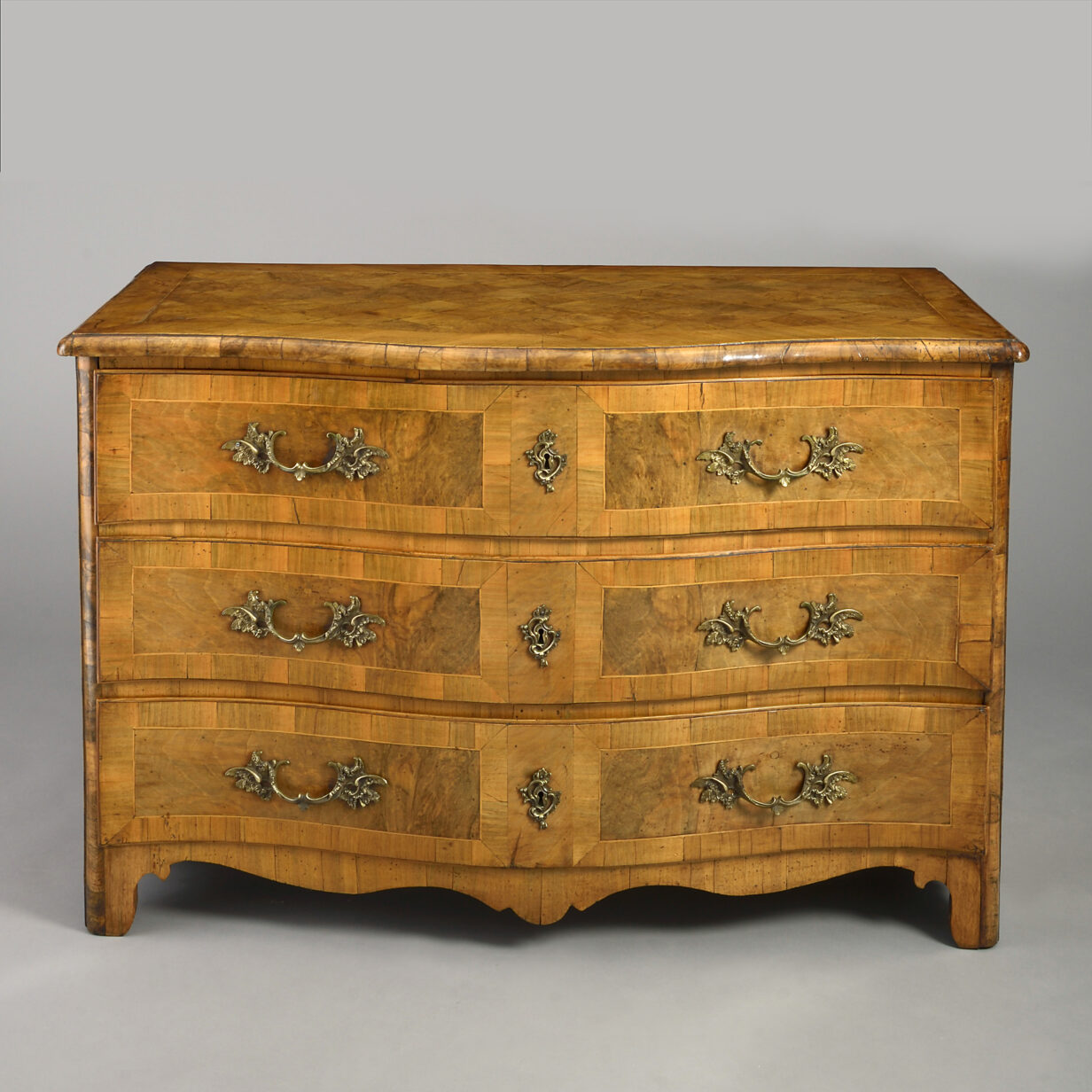 Louis XV Serpentine Commode