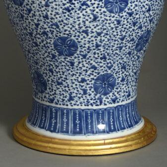 Blue and White Porcelain Vase Lamp