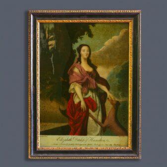 Reverse Glass Print of Elizabeth Gunning Duchess of Hamilton