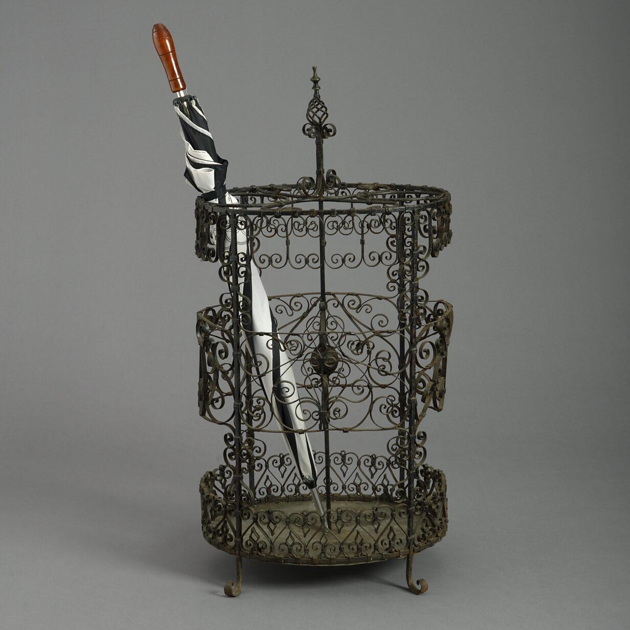 Wrought Iron Stick Stand