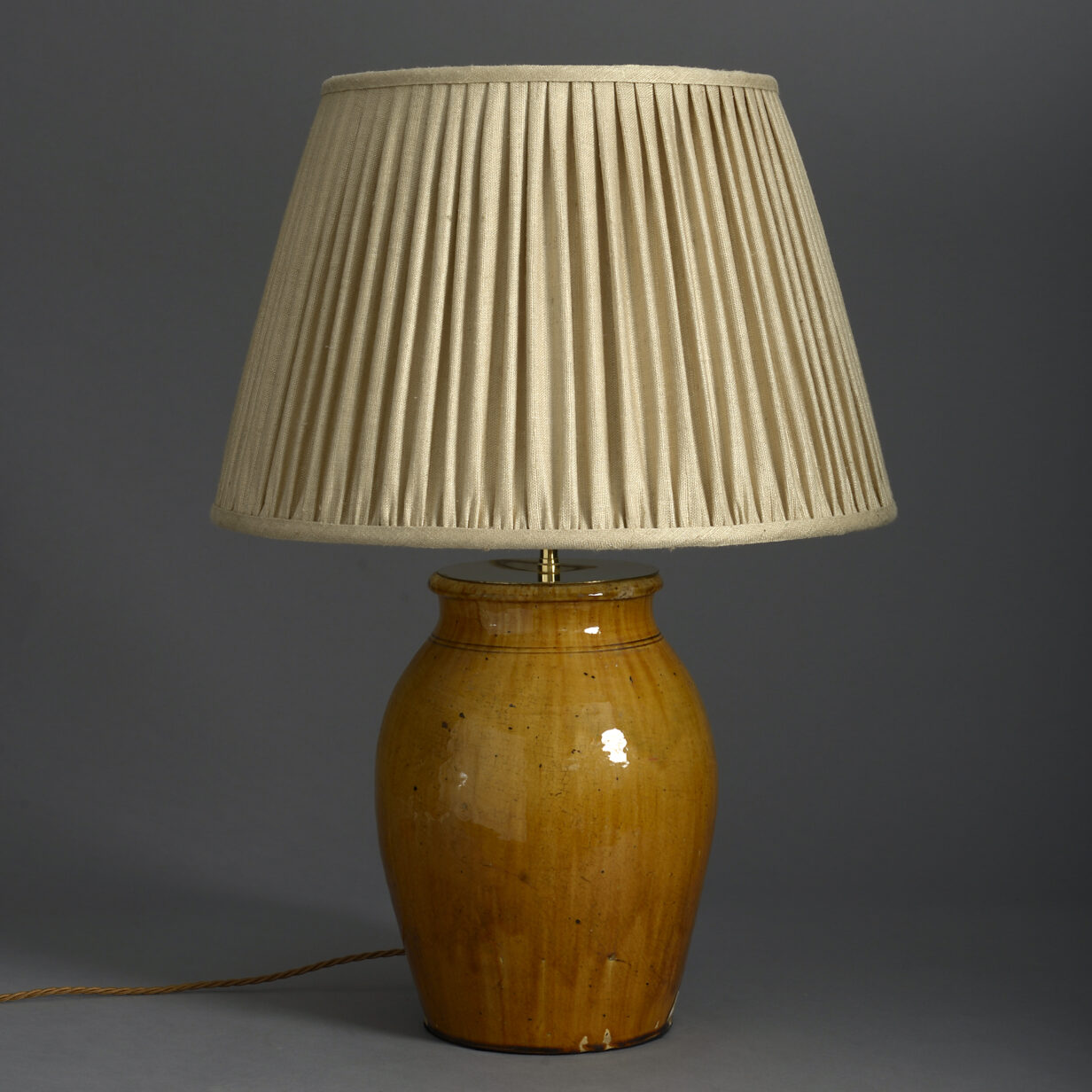 Ochre Pottery Lamp Base