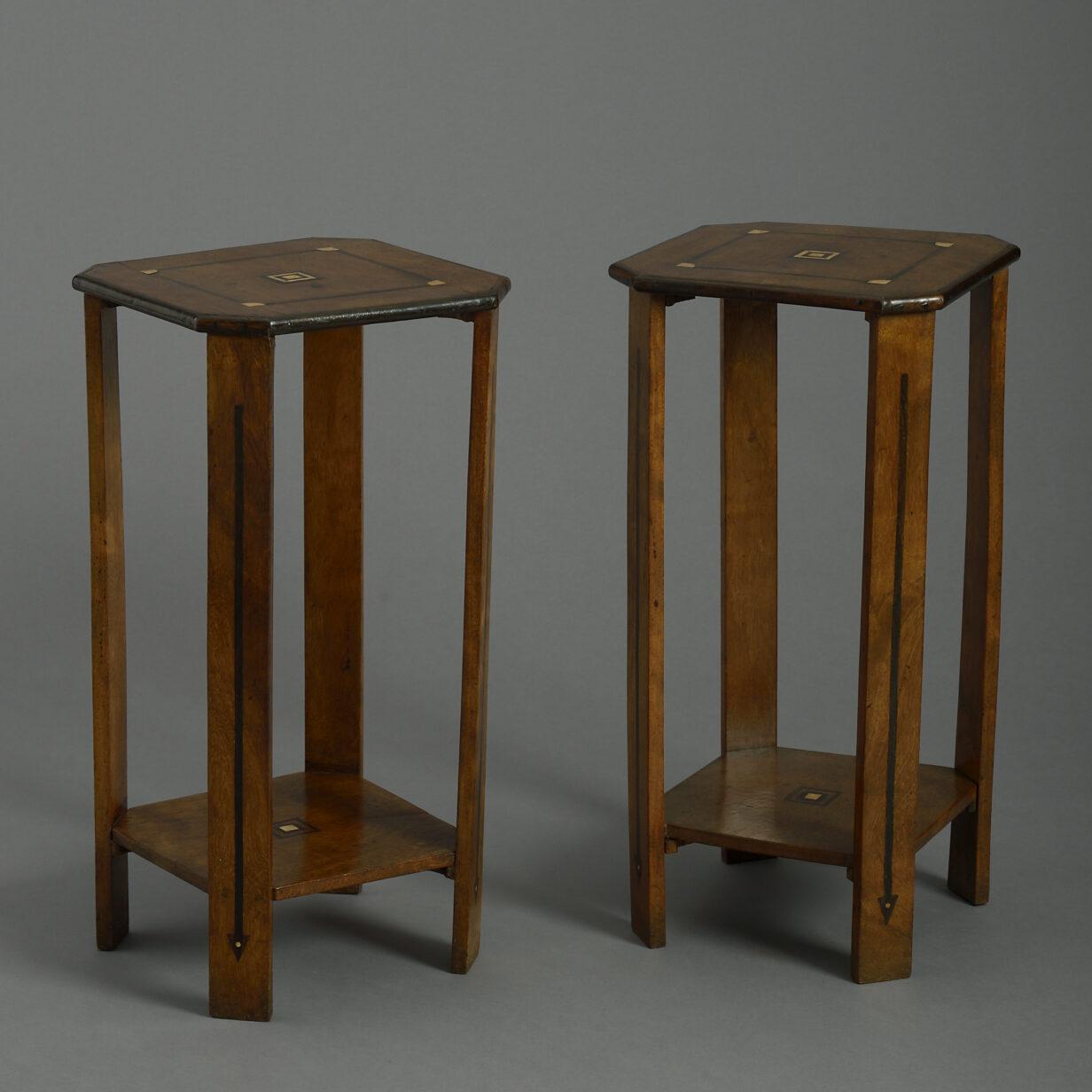 Pair Art Deco End Tables