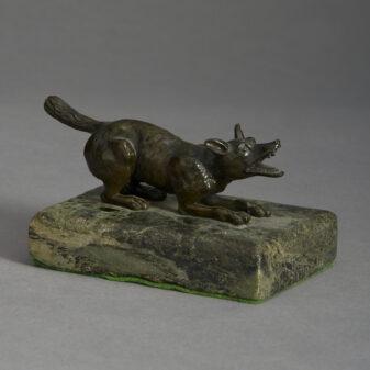 Bronze Wolf Sculpture
