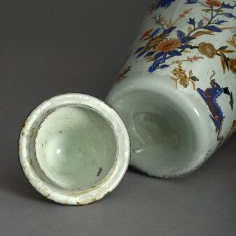 A Lidded Decalcomania Vase