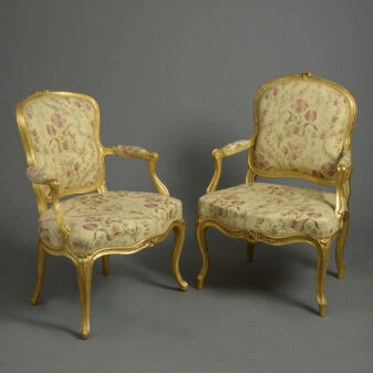 Close Pair of Louis XV Armchairs