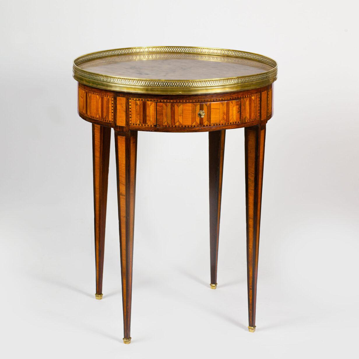 Louis XVI Parquetry Bouillotte Table
