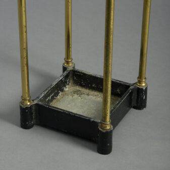 Victorian Square Brass Stick Stand