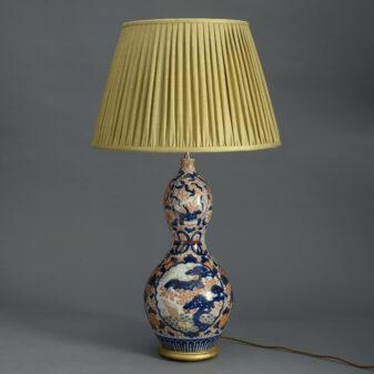 Imari Gourd Vase Lamp