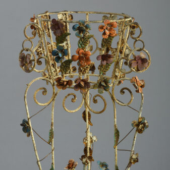 Pair of Tole Jardiniere Stands