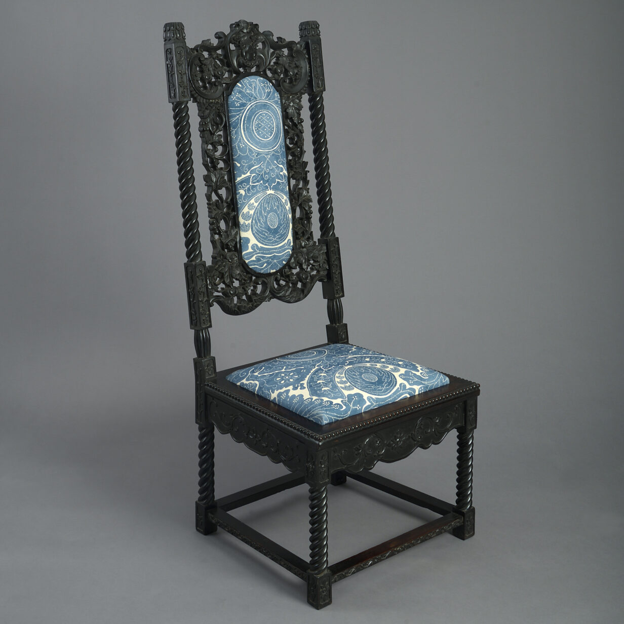 Anglo-Indian High Back Chair