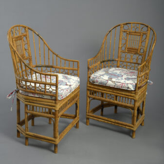 Four Bamboo Armchairs