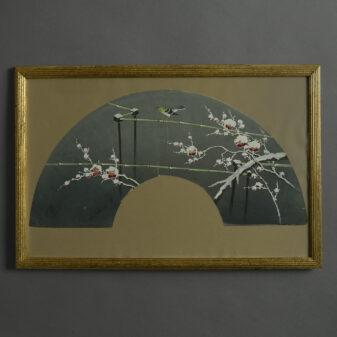 Japanese Gouache Fan Design