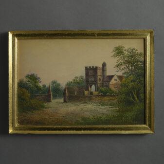 Watercolour View of a Gatehouse
