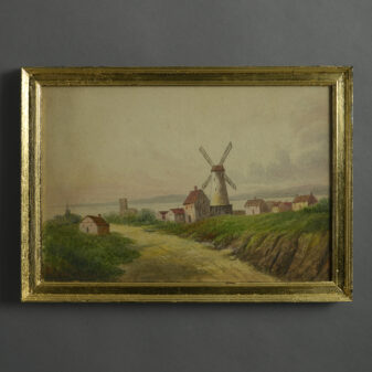 Watercolour of a Windmill