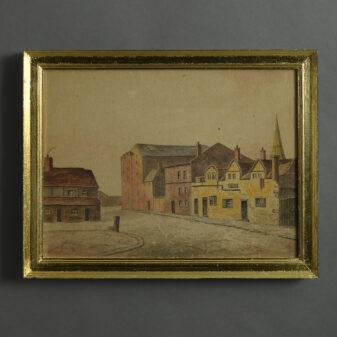 Town Scene Watercolour