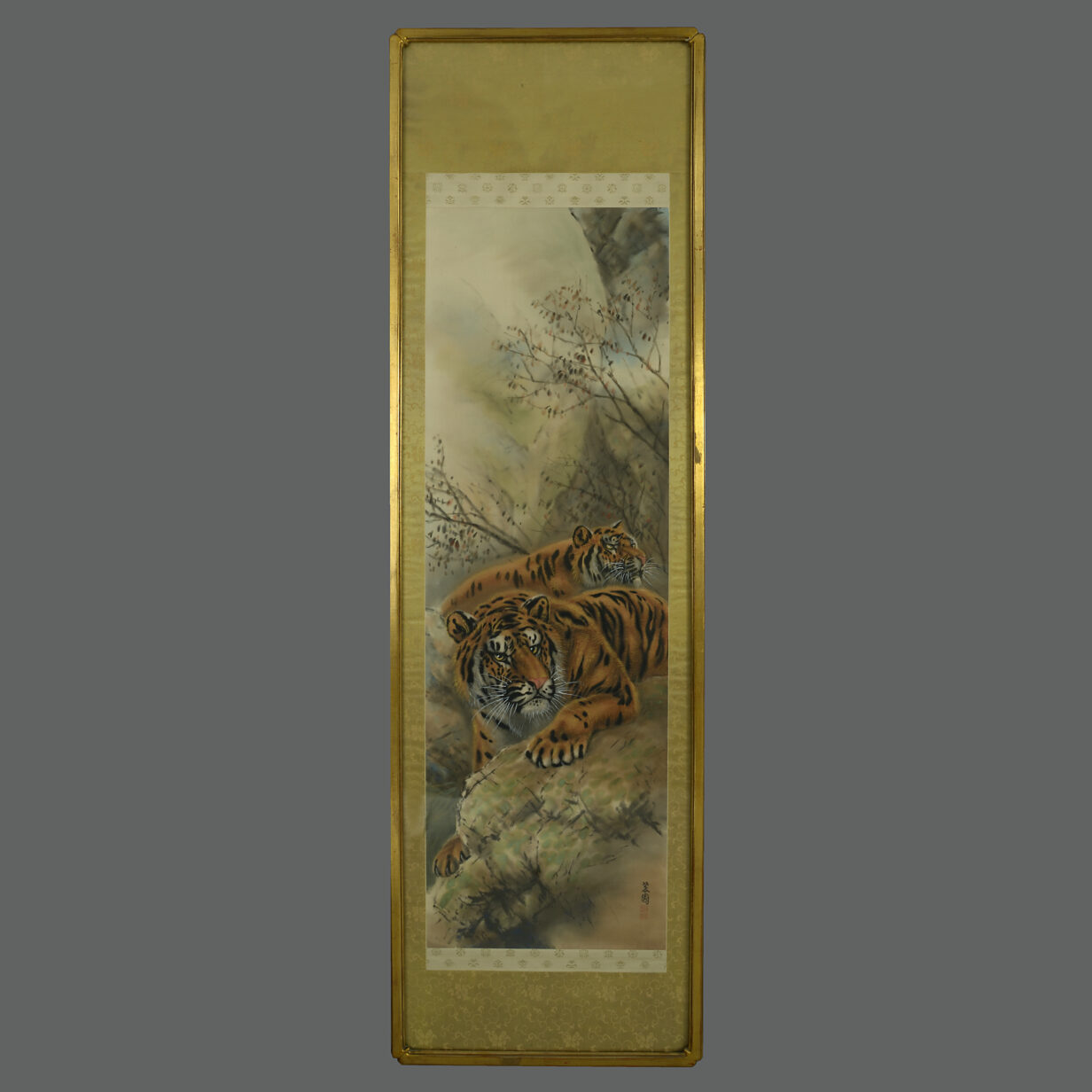 4 Chinese Tiger Scroll Pictures