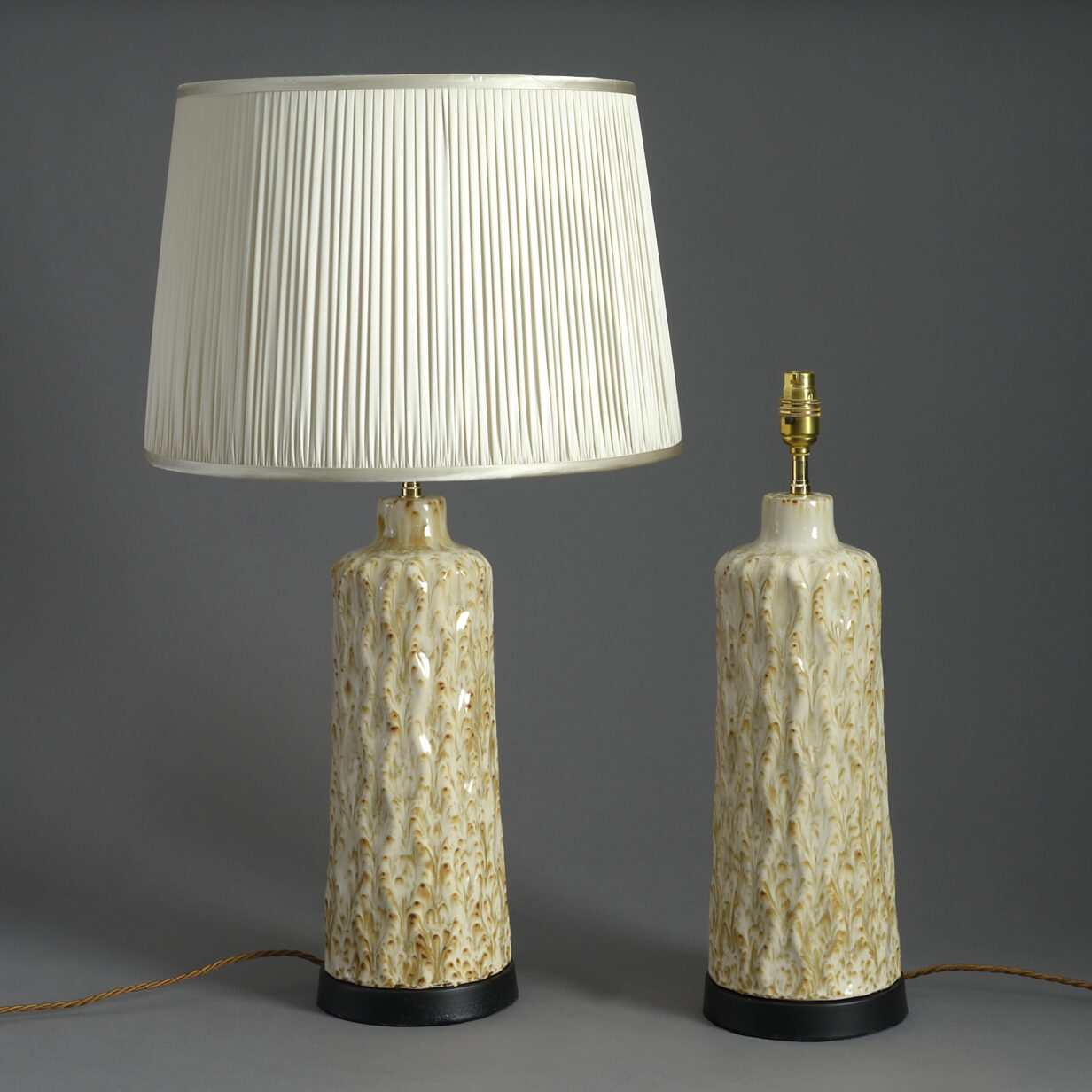 Pair of Mid-century Pottery Lamps