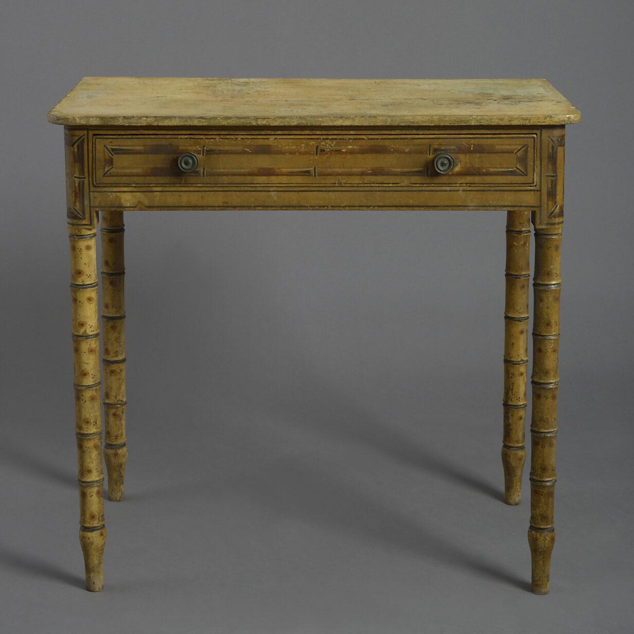 Regency Faux Bamboo Side Table