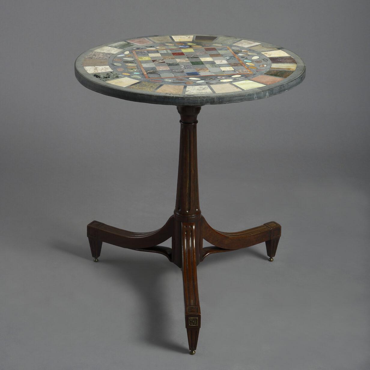 Specimen Table