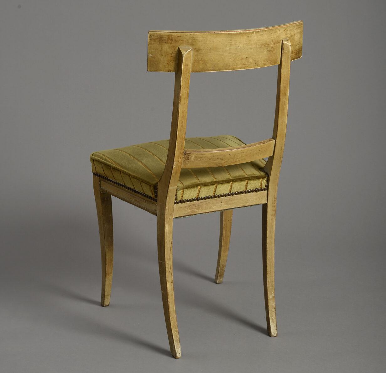 Pair of Painted Klismos Chairs