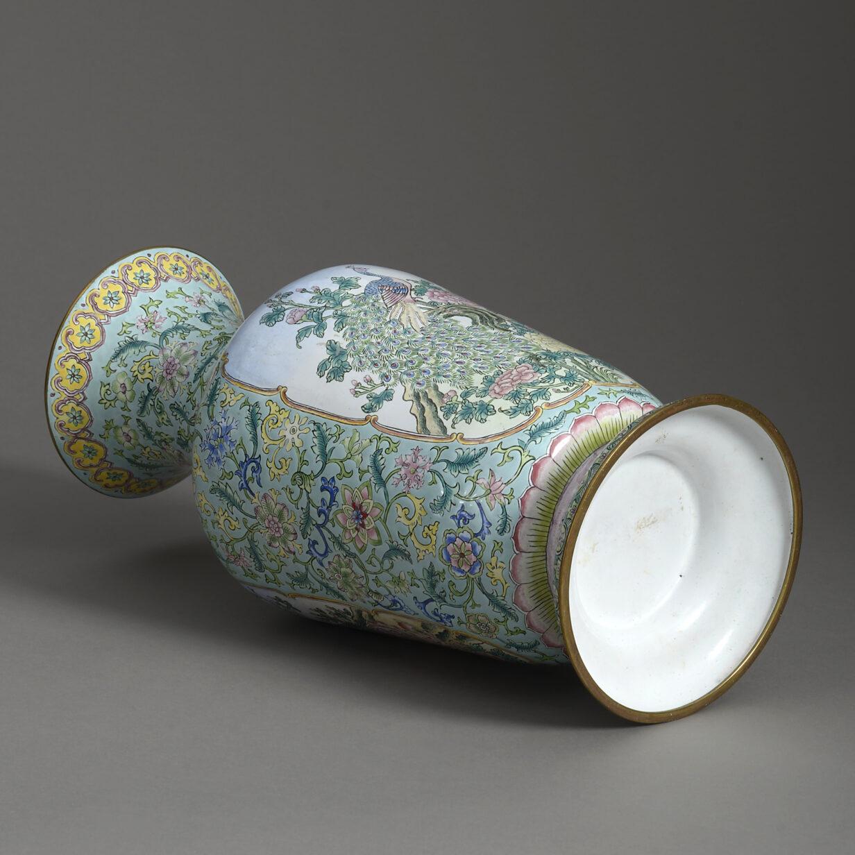 Republic Period Canton Enamel Vase