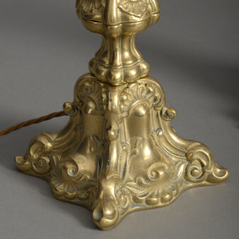 Pair of Victorian Brass Lamps