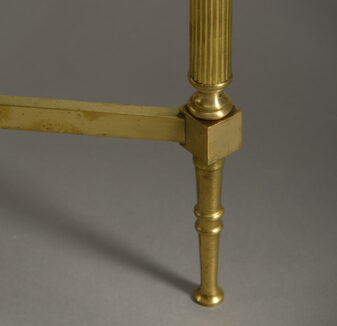 Pair of Square Brass Low Table