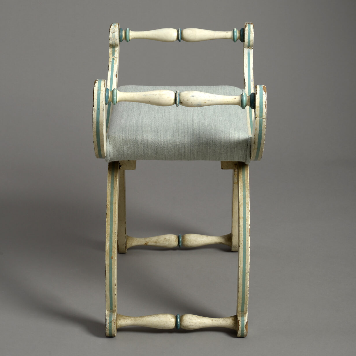 Painted X-Frame Stool