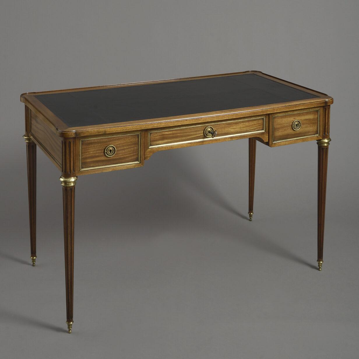 Napoleon III Mahogany Bureau Plat