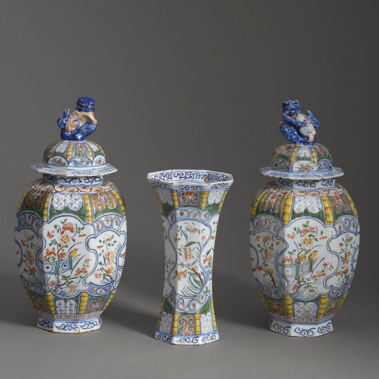 Three Delft Vases