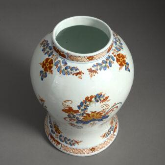 Maiolica Vase and Cover