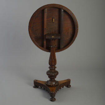 Anglo-Indian Padouk Occasional Table